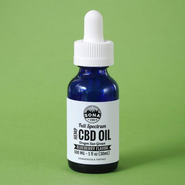Full Spectrum Hemp CBD Oil 500 Blueberrry