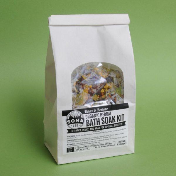 Bath Soak Kit - organic herbal full spectrum CBD