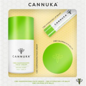 Cannuka 3-piece CBD hydrating face kit