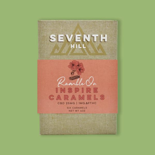 Seventh Hill Inspire Caramels with 25mg CBD
