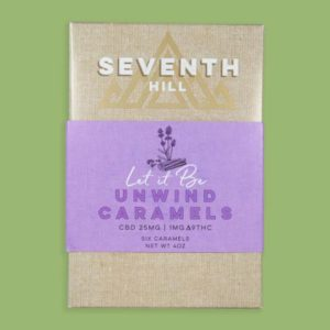 Seventh Hill Unwind Caramels with 25mg CBD