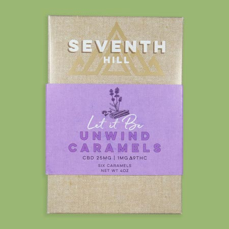 Seventh Hill Unwind Caramels with 25mg CBD