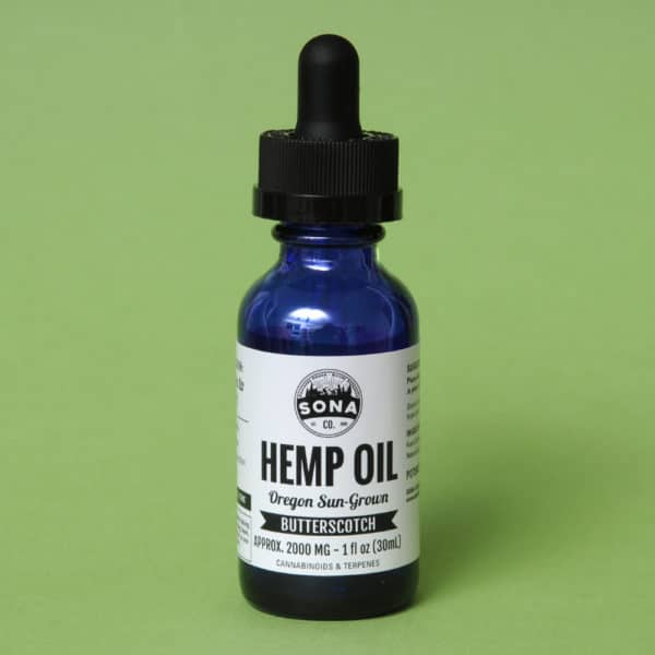 Hemp CBD Oil 2000 Butterscotch