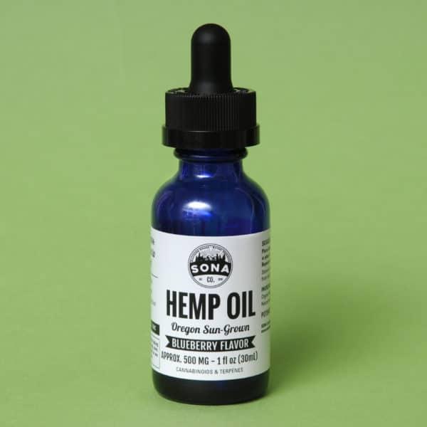Hemp CBD Oil 500 Blueberrry